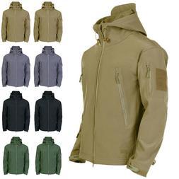 Waterproof Winter Mens Outdoor Jacket Tactical Coat Soft She