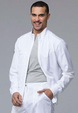 White Cherokee Scrubs Workwear Revolution Mens Zip Front Jac