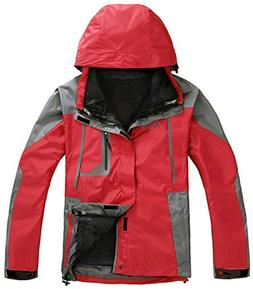 APTRO Men's Windproof Jacket 3 in 1 Outdoor Casual Wear A Re
