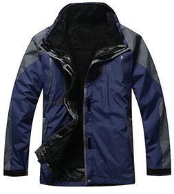 APTRO Men's Windproof Jacket 3 in 1 Outdoor Casual Wear A Na