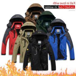 Winter Coat Men's Waterproof Jacket Coat Thicken Fleece Warm