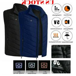 Winter Heated Vest Men Women Cloth Jacket Electric USB Therm
