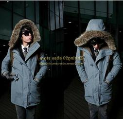Winter Hot Sale Mens Solid Millitary Long Trenches Hoodie Co