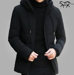 Winter Jacket Men Parka Outwear Warm Slim Casual Stand Colla