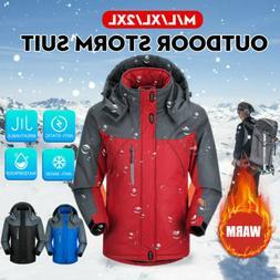 Winter Jacket Men Warm Outdoor Fleece Lined Waterproof Ski S