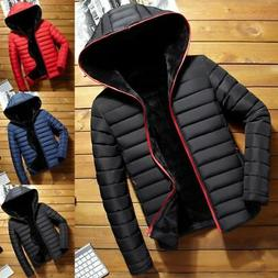 Winter Men Puffer Jacket Bubble Down Coat Quilted Padded War