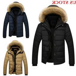 92de97b2f03 Winter Men's Cotton Coat Thicken Warm Outwear Parka Hooded F