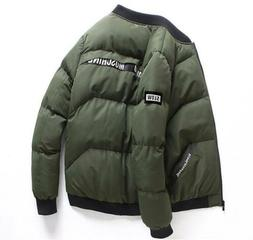 Winter Mens Down Cotton Jacket Warm Thick Padded Jackets Loo