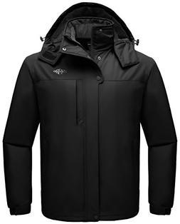 Wantdo Men's Winter Ski Jacket Mountain Waterproof Raincoat