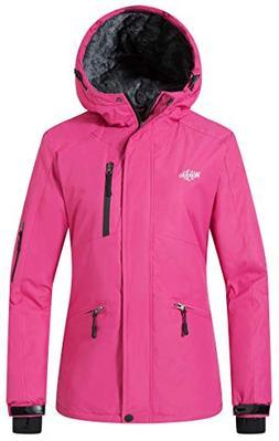 Wantdo Women's Winter Snowboard Jacket Hooded Mountain Water