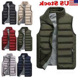 Winter Vest Mens Puffer Bubble Bomber Coat Quilted Padded Ja