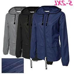 Women Jacket Waterproof  Hooded Outdoor Camping Windbreaker
