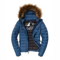 Women's Superdry Fuji Slim Double Zip Hooded Jacket US 6, UK