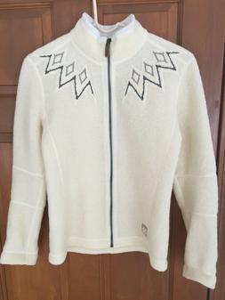 Women's M 66 North Iceland Kaldi Sweater Zip Up Jacket Off W