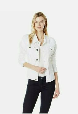 Riders by Lee Womens Denim Jacket White Size  Medium Button