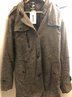 Wantdo Wool Blend Single Breasted Military Peacoat Jacket -