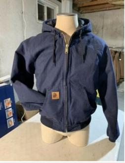 Carhartt Work jacket Hoodie Navy blue Never Worn Men's Siz