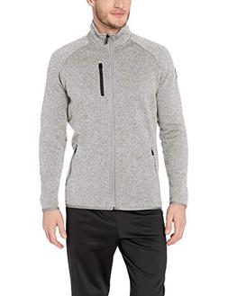 Peak Velocity Men's Full-Zip Performance Fleece Athletic-fit