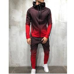 Zipper Tracksuit <font><b>Men</b></font> Set Sporting 2 Piec