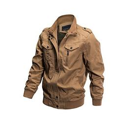 ZooYung Men's Casual Winter Cotton Military Jackets Outdoor